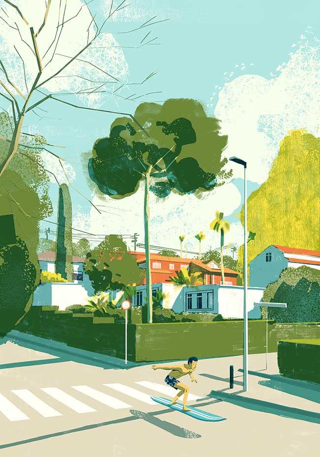 oriol vidal art illustrations retro 3 - Ses Illustrations Donnent Envie de Partir en Vacances