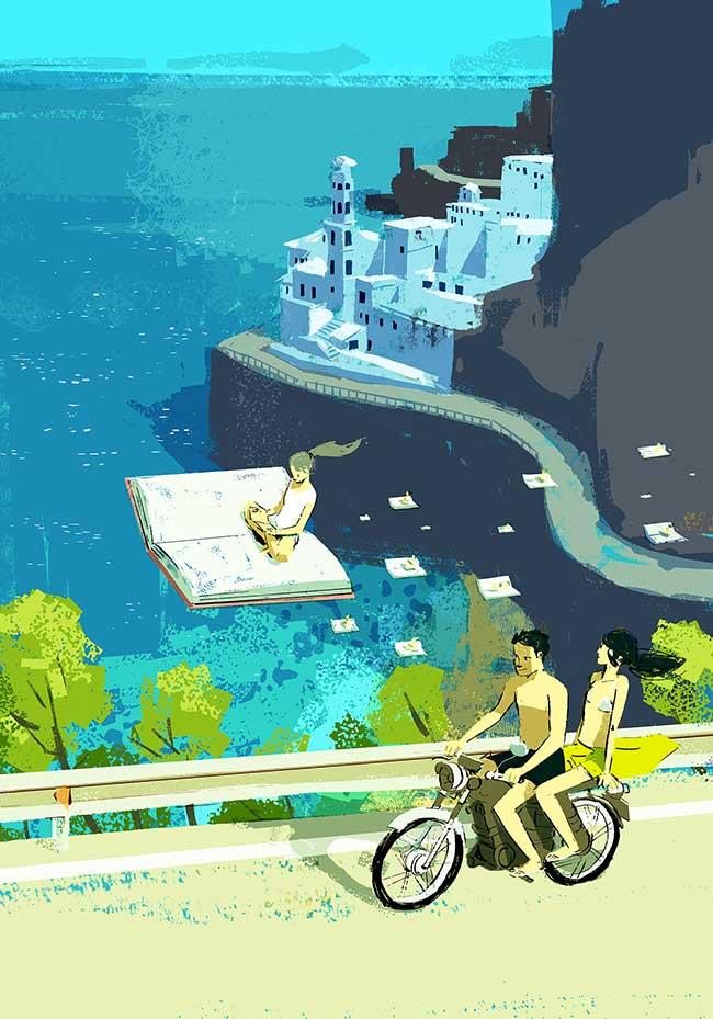 oriol vidal art illustrations retro 4 - Ses Illustrations Donnent Envie de Partir en Vacances