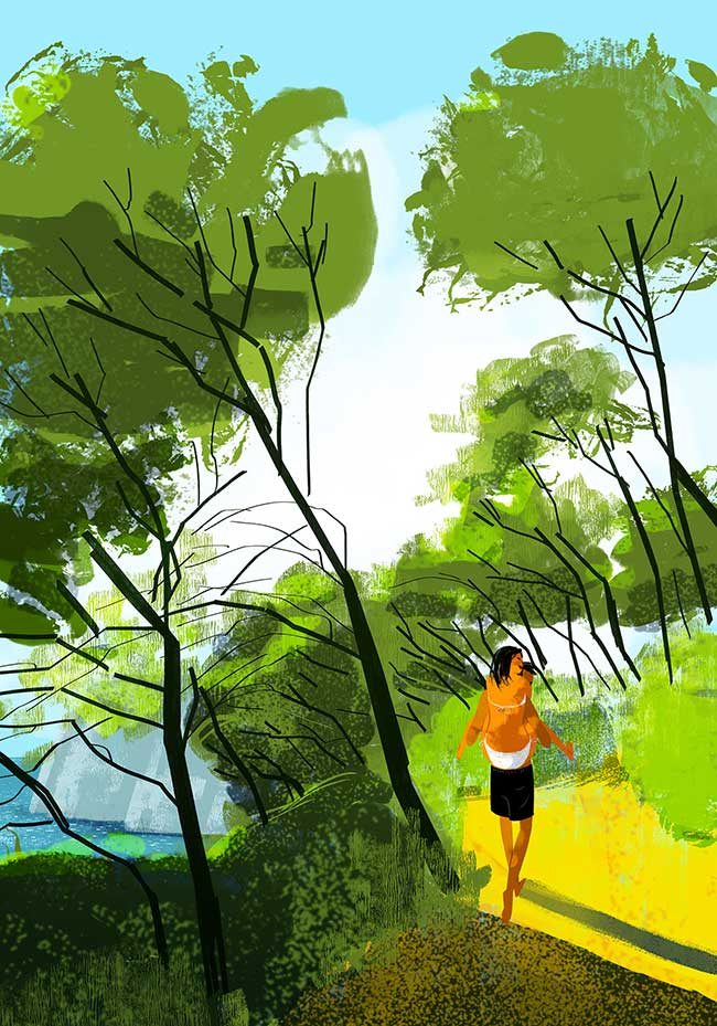 oriol vidal art illustrations retro, Ses Illustrations Donnent Envie de Partir en Vacances