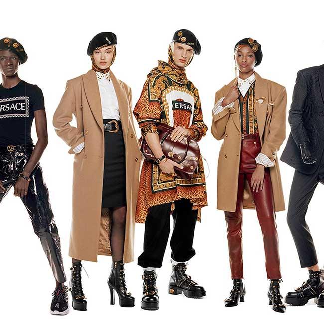 campagne versace homme femme hiver 2018 2019, 54 Jeunes Influenceurs chez Versace l'Hiver Prochain