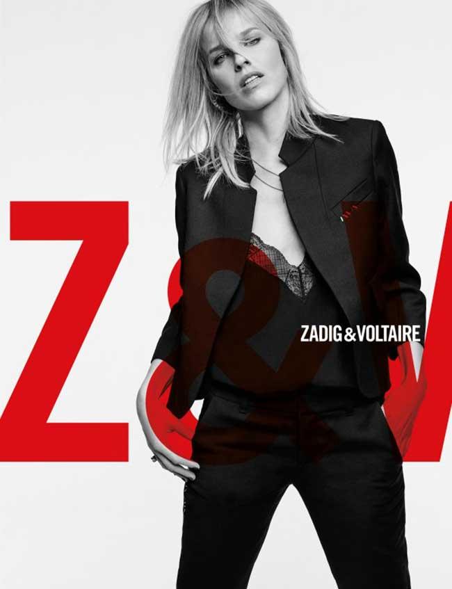zadig voltaire femme campagne hiver 2018 2019, Eva Herzigova se Rebelle pour Zadig & Voltaire l'Hiver Prochain
