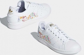 baskets adidas stan smith fleurs brodees