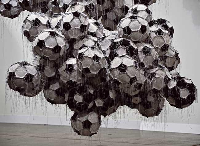 dario escobar sculptures equipement sport art
