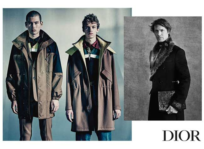dior homme hiver campagne lookbook 2018 2019, L'Homme Dior Fait une Rentrée Rock et Urbaine