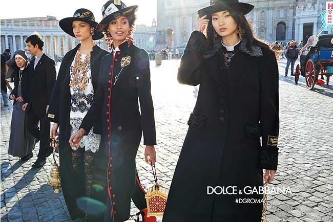 dolce gabbana femmes campagne hiver 2018 2019, Dolce Gabbana Femme Rend Visite aux Romains