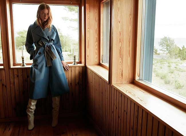 massimo dutti femmes campagne hiver 2018 2019, La Femme Massimo Dutti dans la Campagne Suedoise