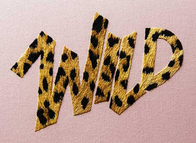 broderie art jessica dance typographie, L'Art de Broder des Mots et des Typographies en 3D