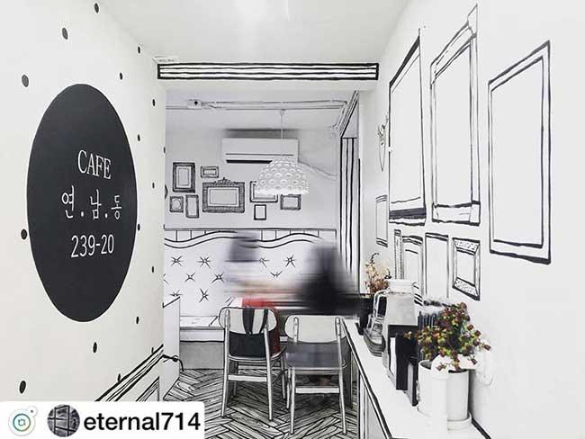 cafe deux dimension 2d salon the seoul yeonnam dong 1 - Salon de Thé Minimaliste pour Prendre son Café en 2D