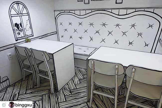 cafe deux dimension 2d salon the seoul yeonnam dong 2 - Salon de Thé Minimaliste pour Prendre son Café en 2D