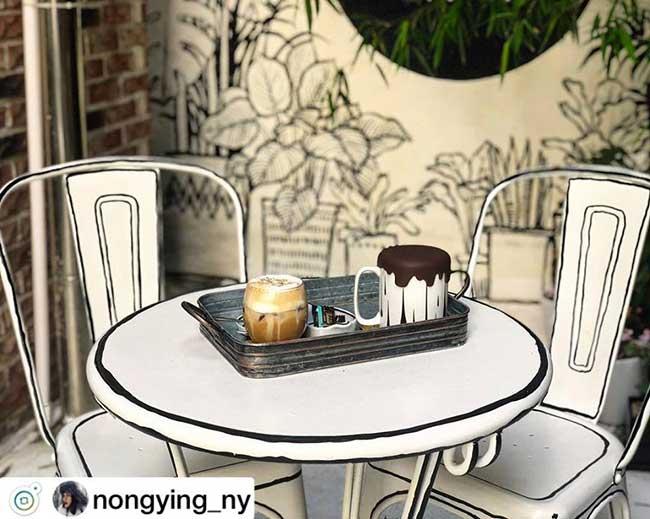 cafe deux dimension 2d salon the seoul yeonnam dong 3 - Salon de Thé Minimaliste pour Prendre son Café en 2D