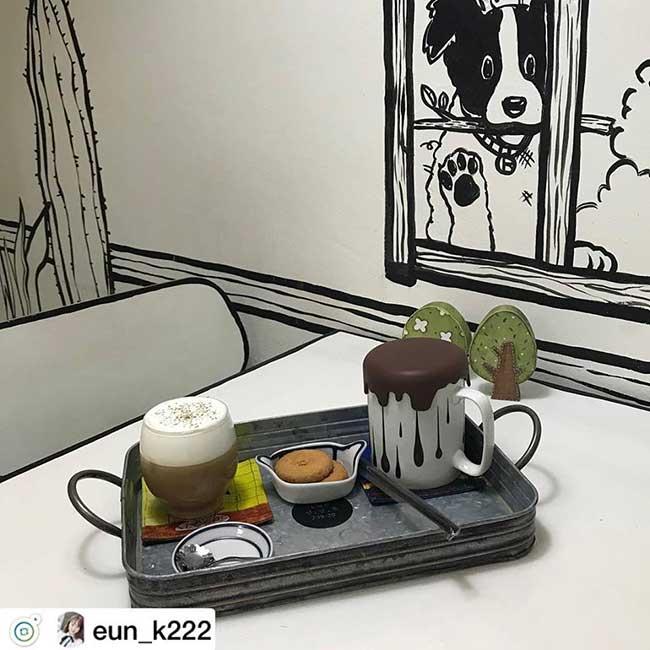 cafe deux dimension 2d salon the seoul yeonnam dong 4 - Salon de Thé Minimaliste pour Prendre son Café en 2D