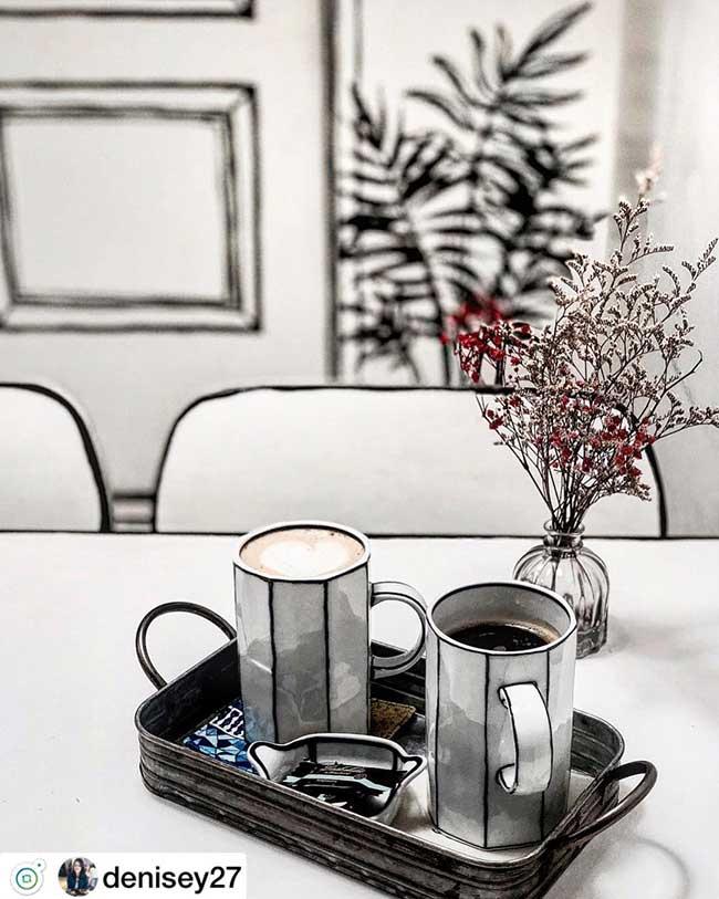 cafe deux dimension 2d salon the seoul yeonnam dong, Salon de Thé Minimaliste pour Prendre son Café en 2D