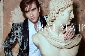 campagne homme femme balmain hiver 2018 2019