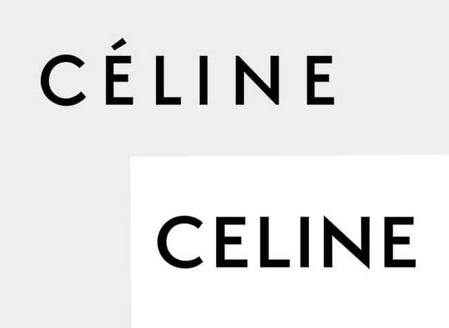 celine changement logo sans accent