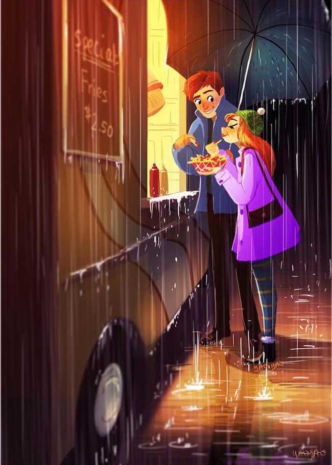 illustration couple yaoyao ma van as
