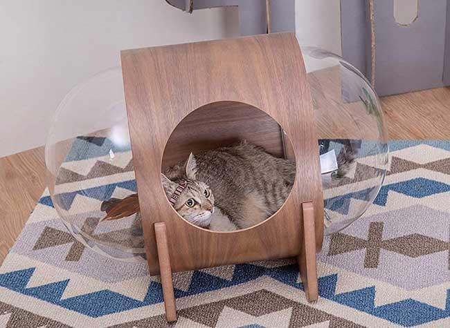 lits chats design myzoo, Luxueux Lits pour Chats à l'Allure de Capsules Spatiales (video)