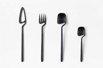 nendo skeleton couverts couteau fourchettes cuillere
