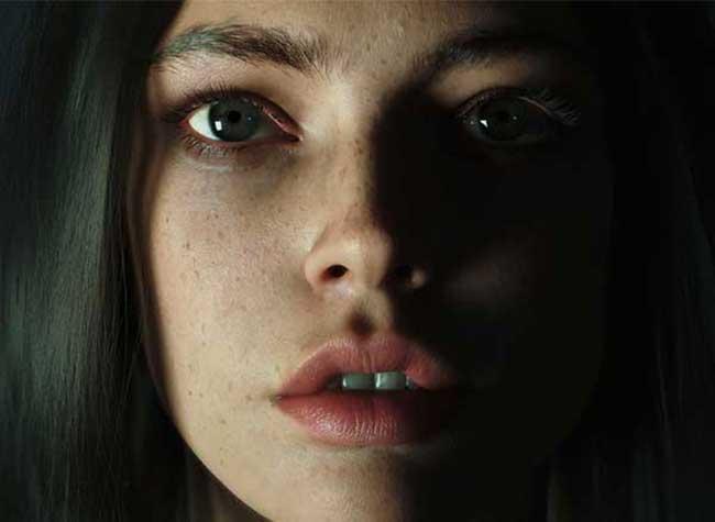 portrait femme image synthese 3d hyper realiste, Réaliste Photo Portrait de Femme en Image de Synthèse 3D
