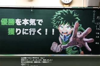 professeur personnages craie japon
