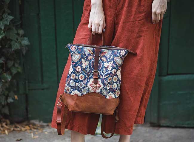 sacs cuir faits main handmade maria solovey, Sacs Vintage Faits Main aux Impressions Nature et Fleuries