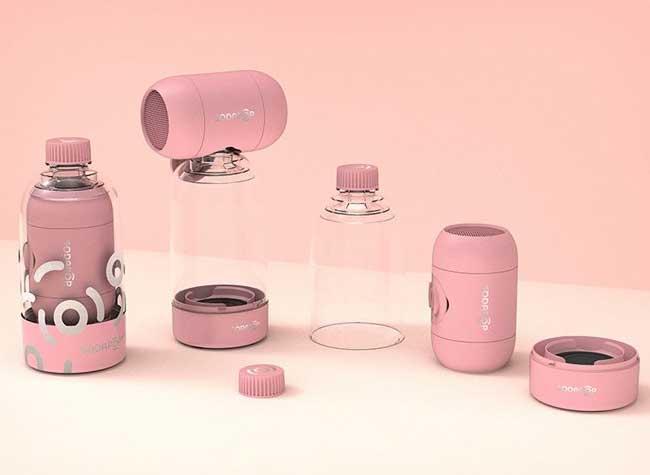 sodapop enceinte connectee bluetooth bouteille plastique, SodaPop Transforme les Bouteilles en Enceintes Bluetooth (video)
