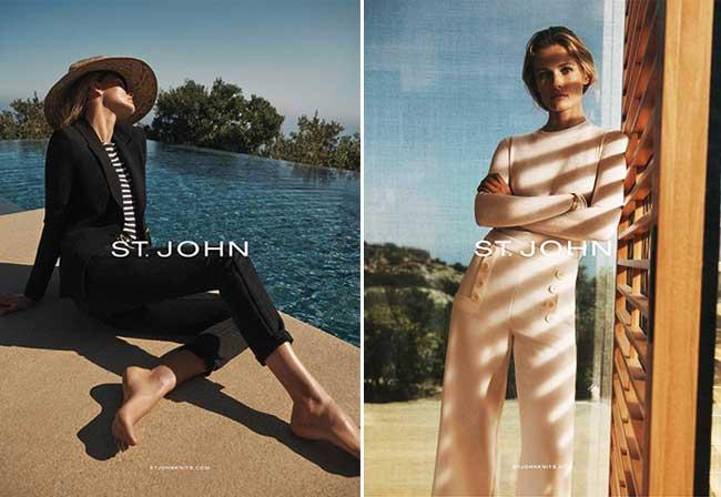 st john automne hiver 2018 2019 campagne, Un Hiver Chic et Ensoleillé pour la Femme St John