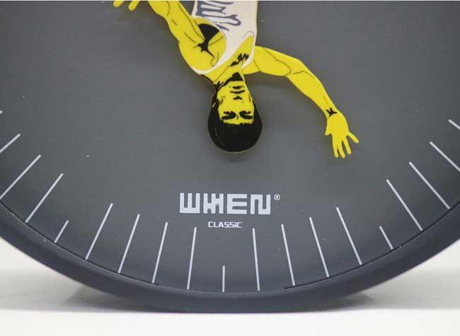 whenwatch kung fu clock horloge murale bruce lee