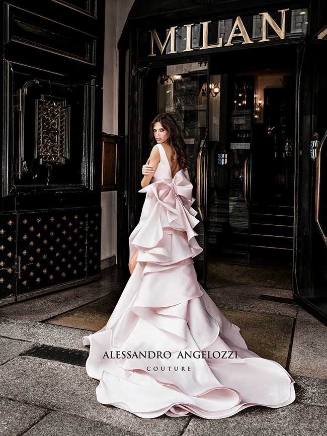 alessandro angelozzi couture robes mariees campagne 2019, Ravissante Bianca Balti en Robe de Mariée Alessandro Angelozzi