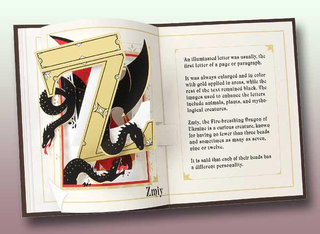alphabet art papier pop-up livre