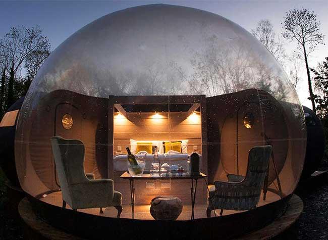 bulles domes nature irlande, Dans ces Bulles Transparentes, Dormez à la Belle Etoile !