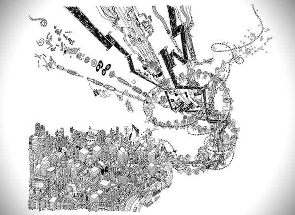 dessins-ginza-nobumasa-takahashi, Fascinants Dessins au Crayon de Ginza au Japon