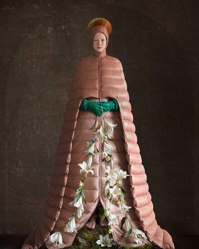 doudounes luxe moncler valentino homme femme, Sculpturales Doudounes de Luxe signées Moncler Valentino