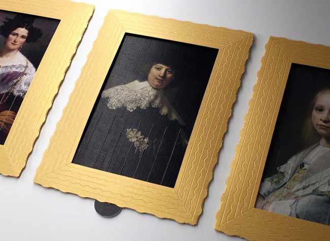 lesha limonov caret postale banksy dechiqueteur, Toiles de Maitres en Cartes Postales à Déchiqueter Inspirees par Banksy