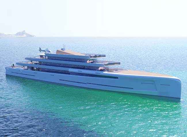 mirage invisible super yacht concept