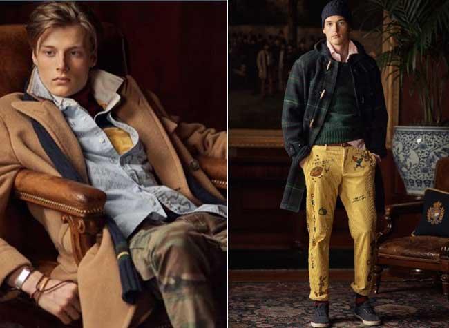 polo ralph lauren campagne homme hiver 2018 2019, Direction l'Université pour l'Homme Ralph Lauren