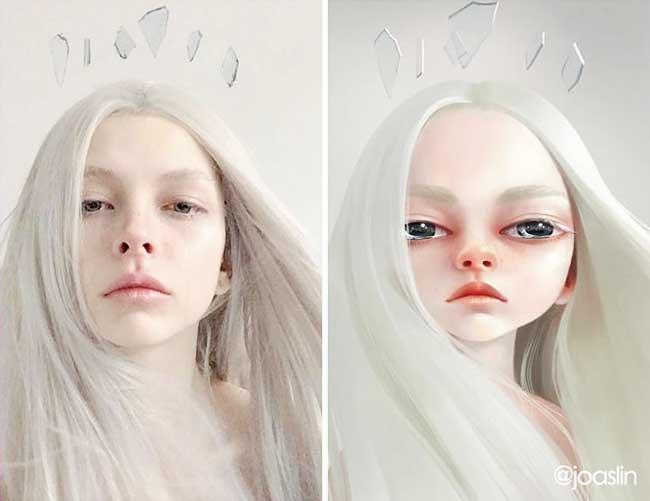 portraits personnages dessins animes joaslin 5 - Elle Transforme votre Portrait Photo  en Personnage de Film d'Animation