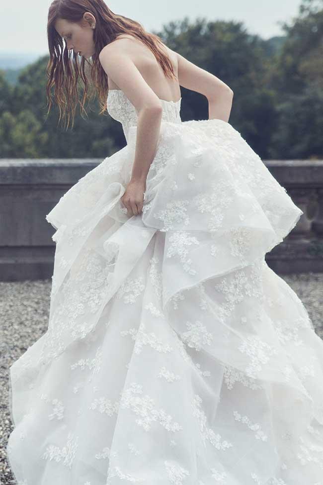 robes mariee automne hiver 2019 monique-lhuillier-, Robes de Mariée Monique Lhuillier pour Princesses d'un Jour