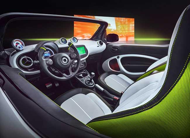 smart ev concept citadine voiture 2018 2 - Smart EV, le Concept Car Cabriolet Electrique qui Décoiffe