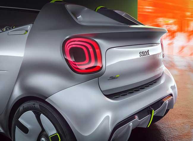 smart ev concept citadine voiture 2018 4 - Smart EV, le Concept Car Cabriolet Electrique qui Décoiffe