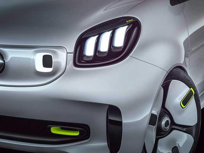 smart ev concept citadine voiture 2018 5 - Smart EV, le Concept Car Cabriolet Electrique qui Décoiffe