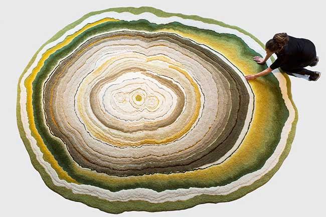 tapis-faits-main-lichen-moisissure-lizan-freijsen, Ces Tapis Faits Main Célèbrent la Beauté des Moisissures et du Lichen
