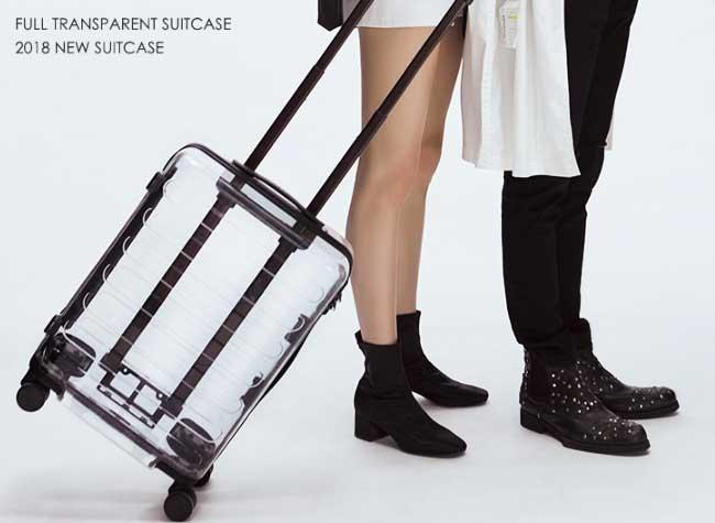 valise transparente xiaomi runmi clone rimowa off white