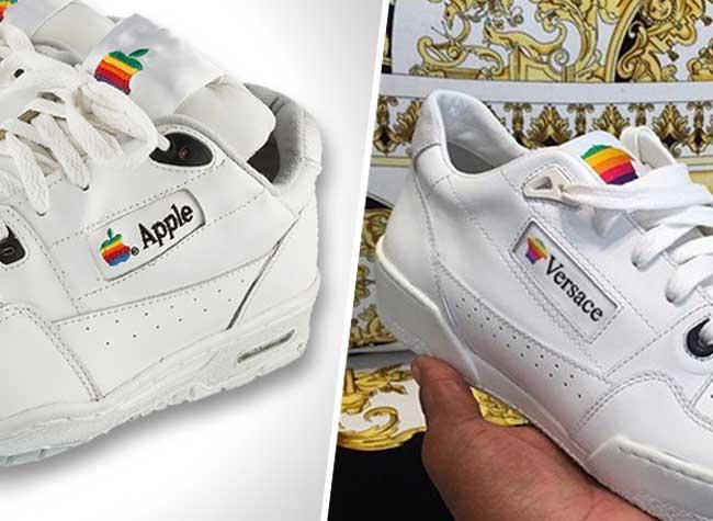 versace baskets contrefacon apple sneakers originale