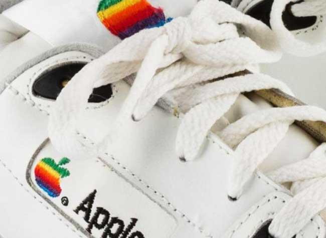 versace baskets contrefacon apple sneakers originale, Versace Revisite les Baskets Blanches Apple des Année 90