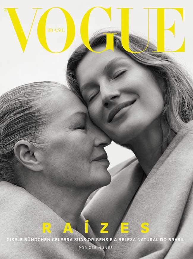 , La Top Gisele Bundchen et sa Maman à la Une de Vogue