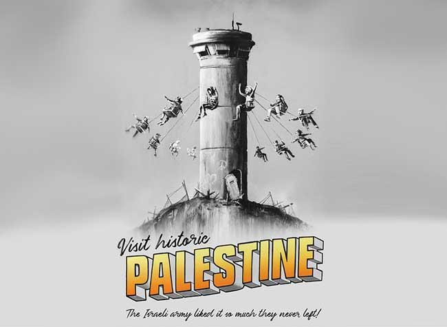 banksy-soutien palestine affiche gratuite, Banksy Offre 1000 Posters en Soutien à la Palestine