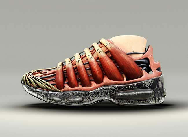 concept art baskets nike air max rosie lee 7 - Cette Artiste Transforme les Baskets Nike en Monuments