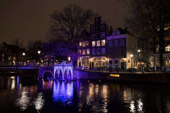 Festival lumières Amsterdam 2018, Installations d'Art au Festival des Lumières d'Amsterdam
