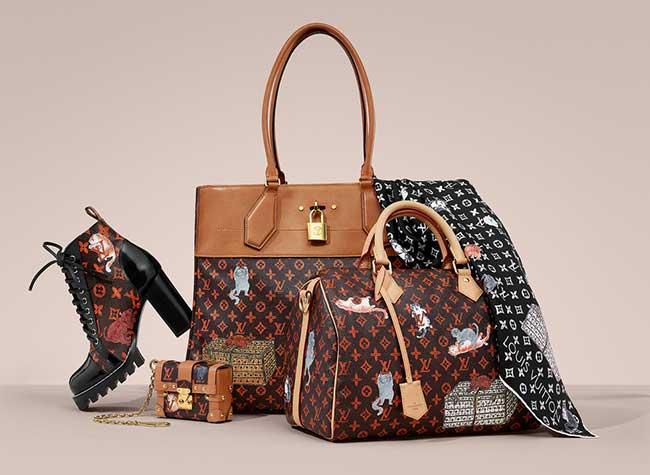louis vuitton catogram collection capsule grace goddington, Catogram, la Collection Chien et Chats de Louis Vuitton