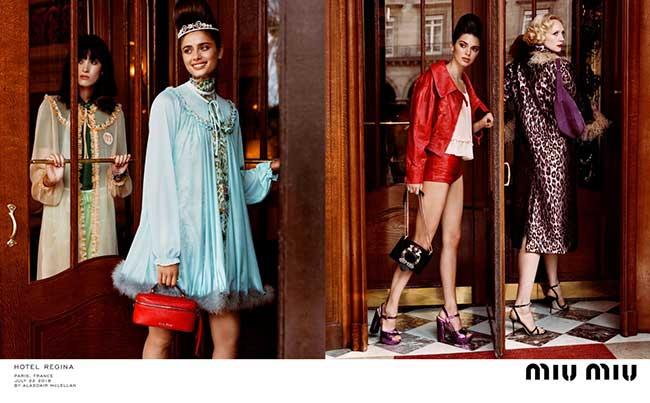 miu miu croisiere 2019 campage, Miu Miu en Croisière à Paris avec Adriana Lima, Kendall Jenner et Autres